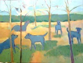 Almost Spring with Blue Dogs
