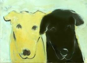 yellow dog_black dog